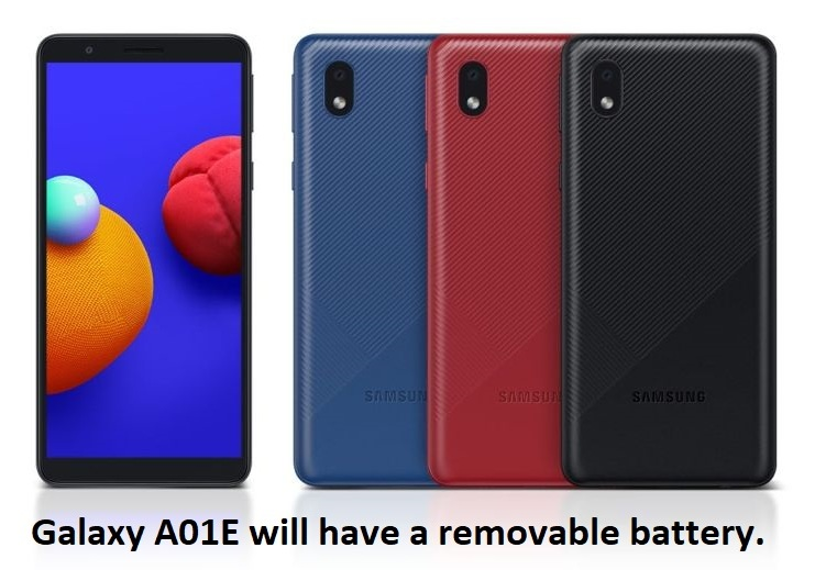 Galaxy A01E will have a removable battery