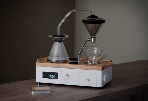 An Automatic Coffee And Tea Maker With Alarm Clock Function